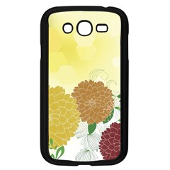 Abstract Flowers Sunflower Gold Red Brown Green Floral Leaf Frame Samsung Galaxy Grand DUOS I9082 Case (Black)