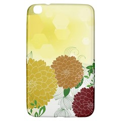 Abstract Flowers Sunflower Gold Red Brown Green Floral Leaf Frame Samsung Galaxy Tab 3 (8 ) T3100 Hardshell Case