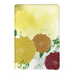 Abstract Flowers Sunflower Gold Red Brown Green Floral Leaf Frame Samsung Galaxy Tab Pro 10.1 Hardshell Case