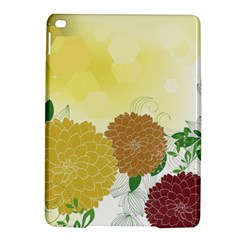 Abstract Flowers Sunflower Gold Red Brown Green Floral Leaf Frame iPad Air 2 Hardshell Cases