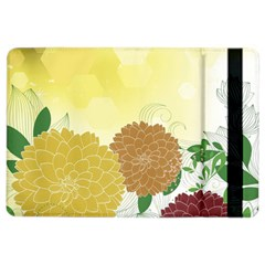 Abstract Flowers Sunflower Gold Red Brown Green Floral Leaf Frame iPad Air 2 Flip