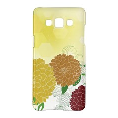 Abstract Flowers Sunflower Gold Red Brown Green Floral Leaf Frame Samsung Galaxy A5 Hardshell Case