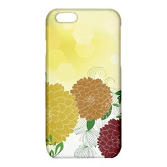Abstract Flowers Sunflower Gold Red Brown Green Floral Leaf Frame iPhone 6/6S TPU Case