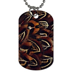 Feathers Bird Black Dog Tag (Two Sides)