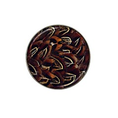 Feathers Bird Black Hat Clip Ball Marker