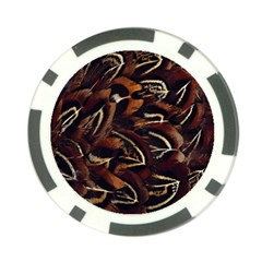 Feathers Bird Black Poker Chip Card Guard (10 pack)