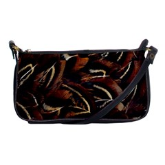 Feathers Bird Black Shoulder Clutch Bags