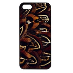 Feathers Bird Black Apple iPhone 5 Seamless Case (Black)