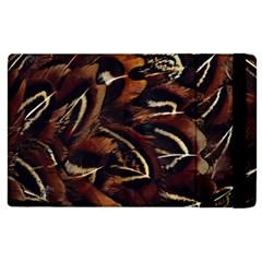 Feathers Bird Black Apple iPad 3/4 Flip Case