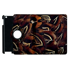 Feathers Bird Black Apple iPad 2 Flip 360 Case