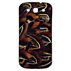 Feathers Bird Black Samsung Galaxy S3 S III Classic Hardshell Back Case