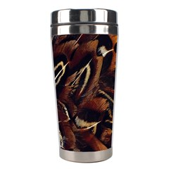 Feathers Bird Black Stainless Steel Travel Tumblers
