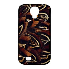 Feathers Bird Black Samsung Galaxy S4 Classic Hardshell Case (PC+Silicone)
