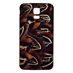 Feathers Bird Black Samsung Galaxy S5 Back Case (white)