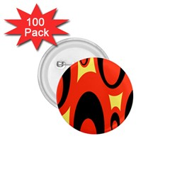 Circle Eye Black Red Yellow 1.75  Buttons (100 pack)