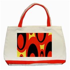 Circle Eye Black Red Yellow Classic Tote Bag (Red)
