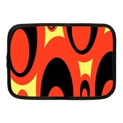 Circle Eye Black Red Yellow Netbook Case (Medium)