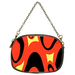 Circle Eye Black Red Yellow Chain Purses (Two Sides)