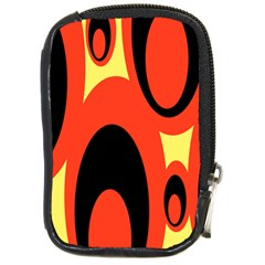 Circle Eye Black Red Yellow Compact Camera Cases