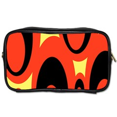 Circle Eye Black Red Yellow Toiletries Bags