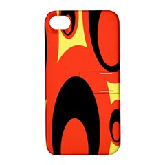 Circle Eye Black Red Yellow Apple iPhone 4/4S Hardshell Case with Stand