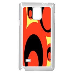 Circle Eye Black Red Yellow Samsung Galaxy Note 4 Case (White)