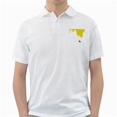 Fish Underwater Yellow White Golf Shirts