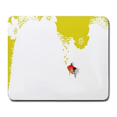 Fish Underwater Yellow White Large Mousepads