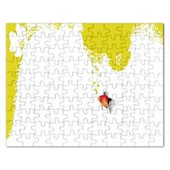 Fish Underwater Yellow White Rectangular Jigsaw Puzzl