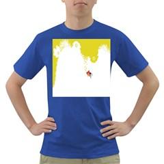Fish Underwater Yellow White Dark T-Shirt