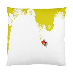 Fish Underwater Yellow White Standard Cushion Case (two Sides)
