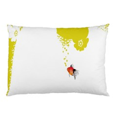 Fish Underwater Yellow White Pillow Case (Two Sides)