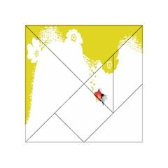Fish Underwater Yellow White Acrylic Tangram Puzzle (4  X 4 )