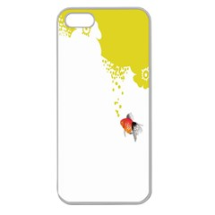 Fish Underwater Yellow White Apple Seamless Iphone 5 Case (clear)