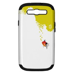 Fish Underwater Yellow White Samsung Galaxy S III Hardshell Case (PC+Silicone)