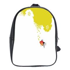 Fish Underwater Yellow White School Bags (xl)