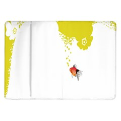 Fish Underwater Yellow White Samsung Galaxy Tab 10 1  P7500 Flip Case