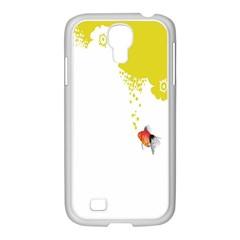 Fish Underwater Yellow White Samsung GALAXY S4 I9500/ I9505 Case (White)