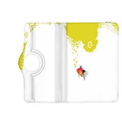 Fish Underwater Yellow White Kindle Fire HDX 8.9  Flip 360 Case