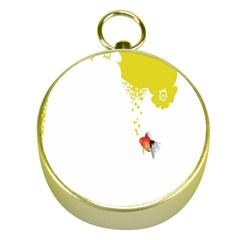Fish Underwater Yellow White Gold Compasses