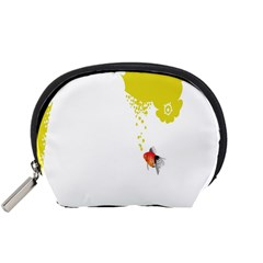Fish Underwater Yellow White Accessory Pouches (Small)