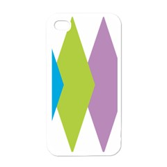 Chevron Wave Triangle Plaid Blue Green Purple Orange Rainbow Apple iPhone 4 Case (White)