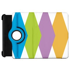 Chevron Wave Triangle Plaid Blue Green Purple Orange Rainbow Kindle Fire HD 7