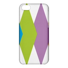 Chevron Wave Triangle Plaid Blue Green Purple Orange Rainbow Apple iPhone 5C Hardshell Case