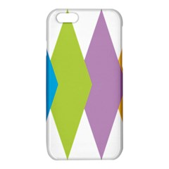 Chevron Wave Triangle Plaid Blue Green Purple Orange Rainbow iPhone 6/6S TPU Case