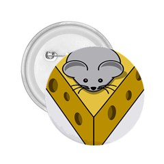 Cheese Mose Yellow Grey 2.25  Buttons