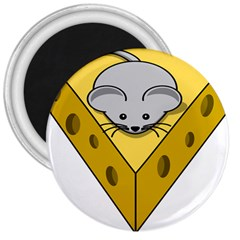 Cheese Mose Yellow Grey 3  Magnets