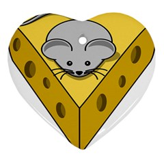 Cheese Mose Yellow Grey Ornament (heart)