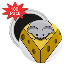 Cheese Mose Yellow Grey 2.25  Magnets (100 pack)