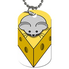 Cheese Mose Yellow Grey Dog Tag (One Side)